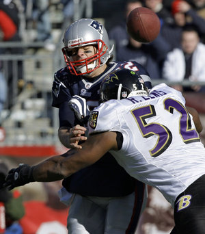 Brady sacked by Raven Ray Lewis