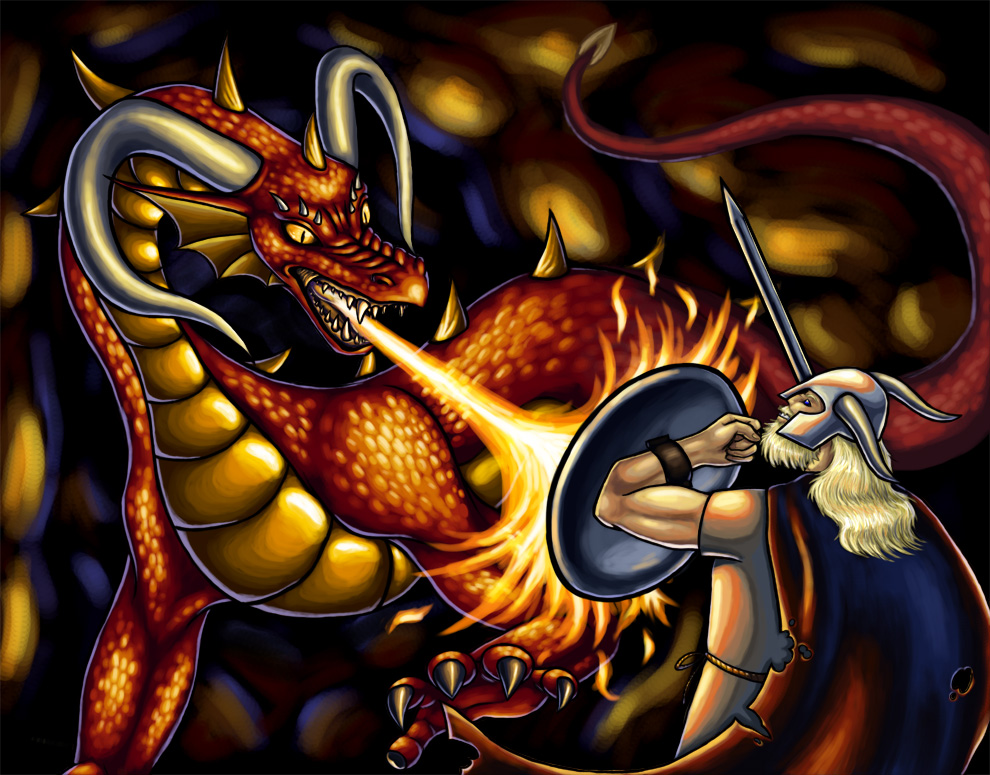 what does the dragon symbolize in beowulf