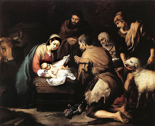 "Bartolomé Esteban Murillo, ""Adoration of the Shepherds"""