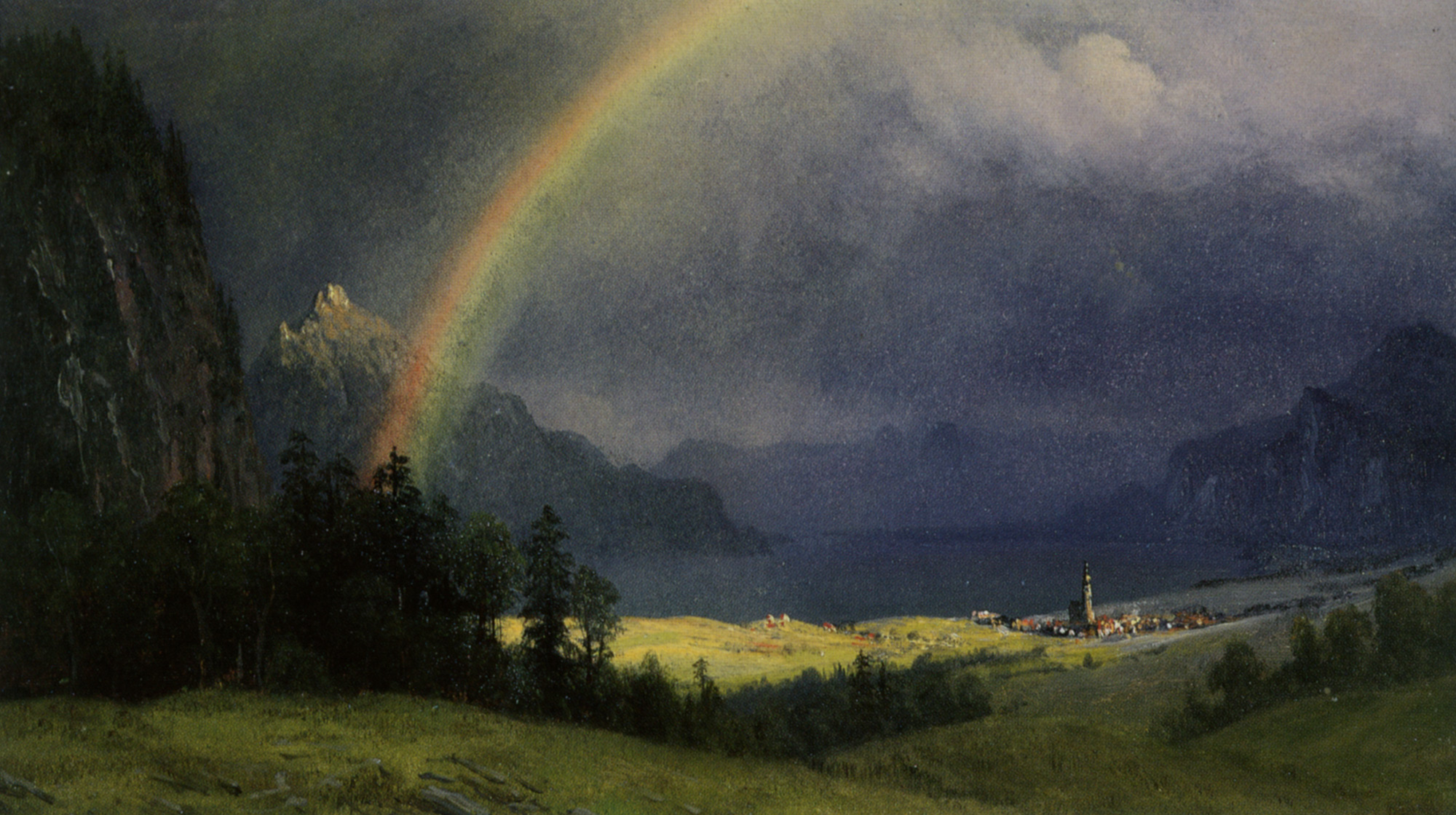 "Albert Bierstadt, ""After the Shower"""
