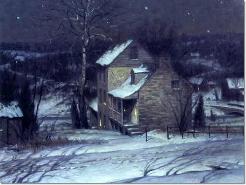 "George Sotter, ""Night Scene with Snow"""