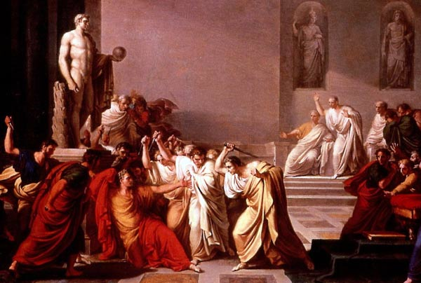 "Camuccini, ""Death of Julius Caesar"""