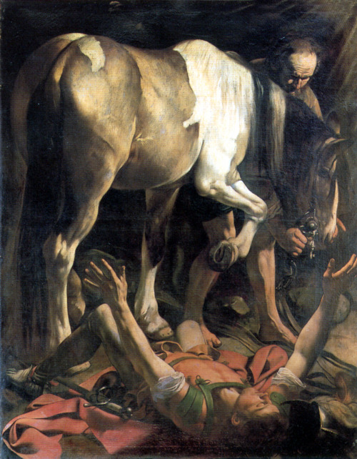 "Caravaggio, ""Conversion of St. Paul on the Road to Damascus"""