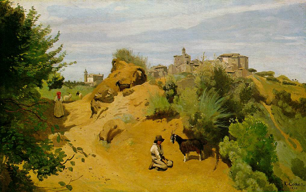 "Jean-Baptiste-Camille Corot, ""The Goat Herd of Genzano"" (1843)"