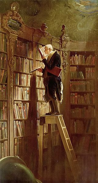 "Carl Spitzweg, ""The Bookworm"" (1850)"
