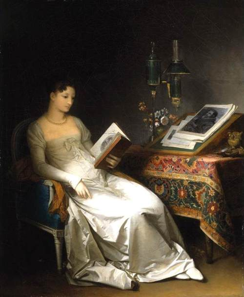 "Marguerite Gérard, ""Lady Reading in an Interior"" (1795-1800)"