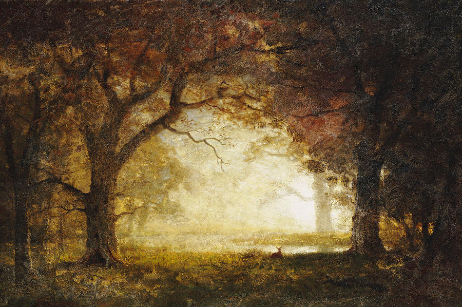 "Albert Bierstadt, ""Forest Sunrise"""
