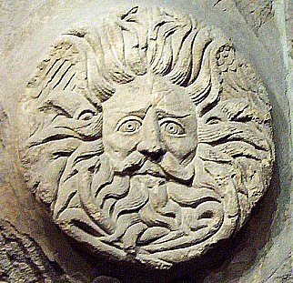 Roman sun god from the temple at Aqua Sulis (Bath)