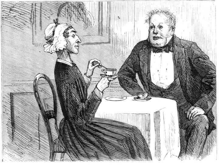 """Sol Eytinge, """"Mr. Bounderby and Mrs. Sparsit"""""""