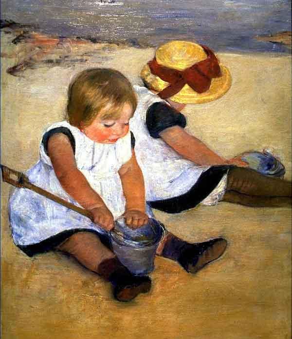 "Mary Cassatt, ""Children Playing on the Beach"""