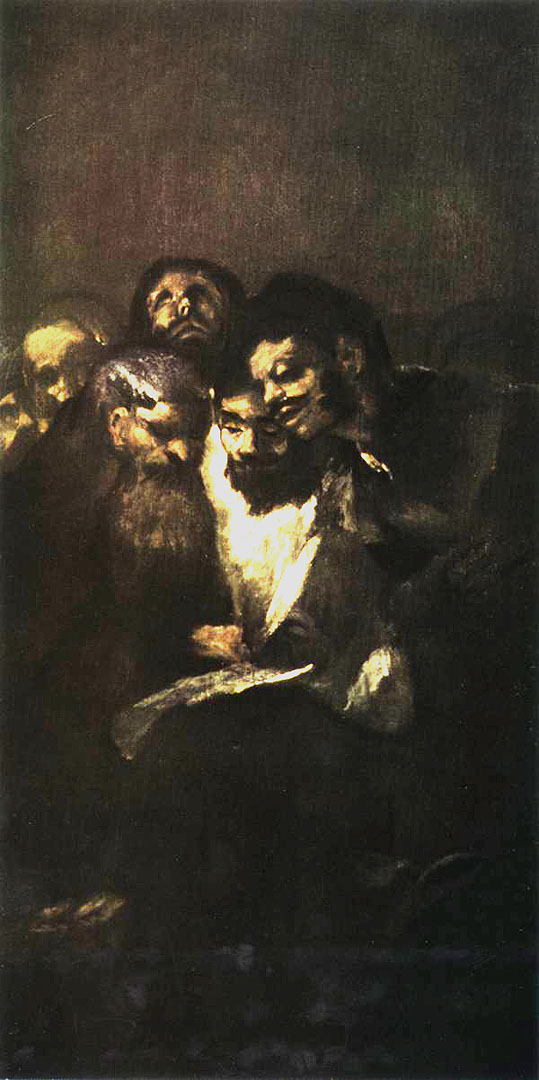 "Goya, ""Men Reading Black Painting"""