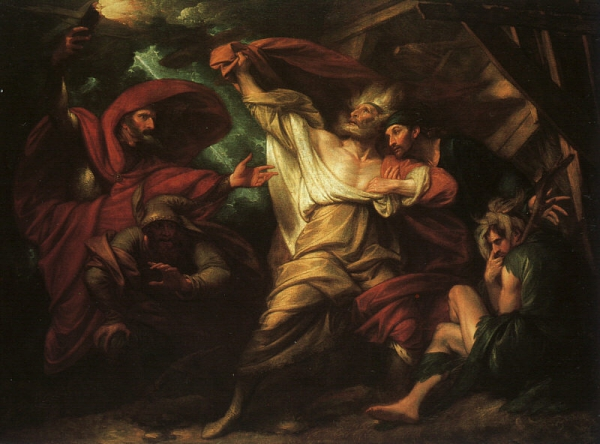 "Benjamin West, ""King Lear in the Storm"""