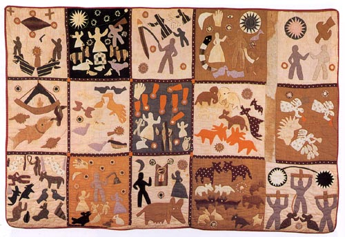 Quilt by former slave Harriet Powers