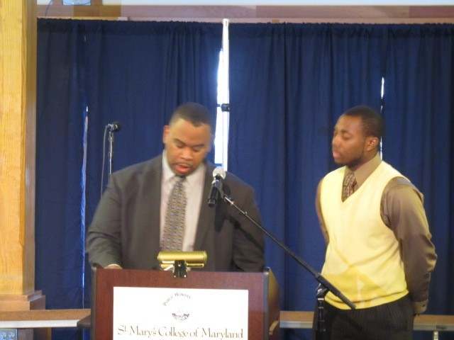 My student Therm (right) at the MLK Day breakfast