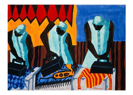 "Jacob Lawrence, ""The Ironers"""