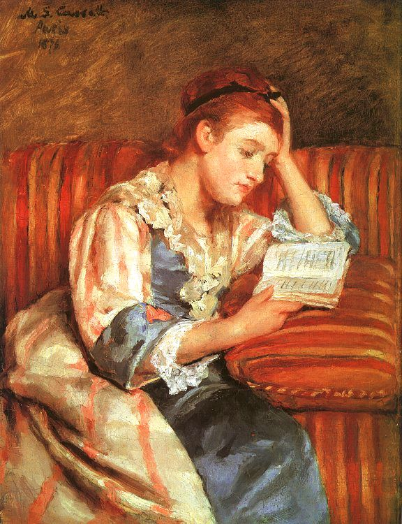 "Mary Cassatt, ""Young Woman Reading"""