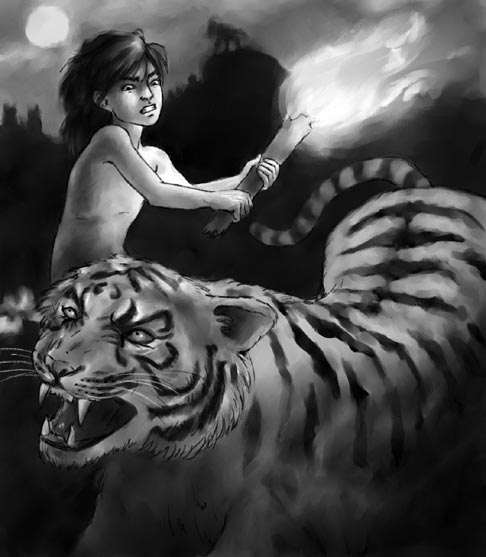 Mowgli and Shere Khan