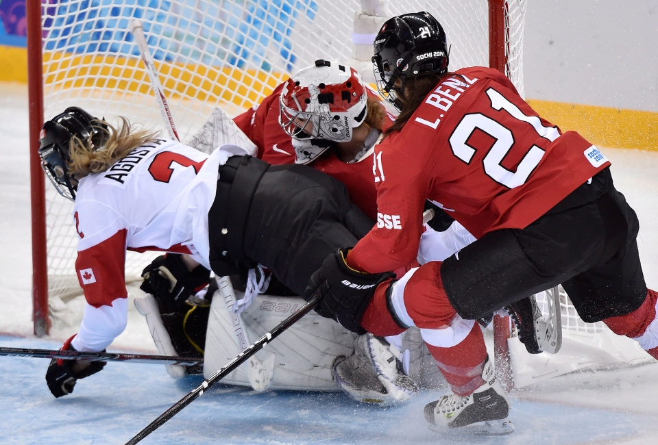 Canadian women against Switzerland