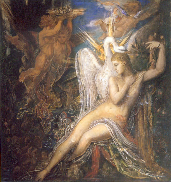 "Gustave Moreau, ""Leda and the Swan"""