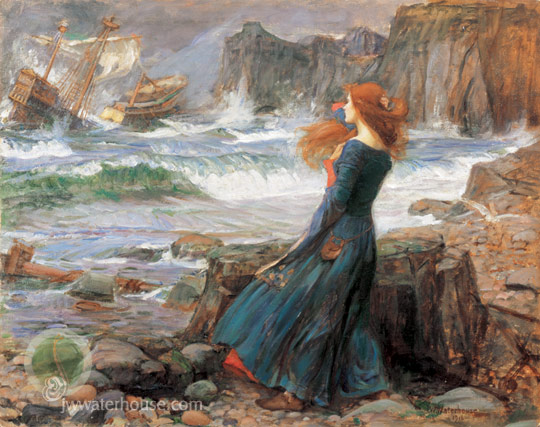 "John William Waterhouse, ""Miranda"""