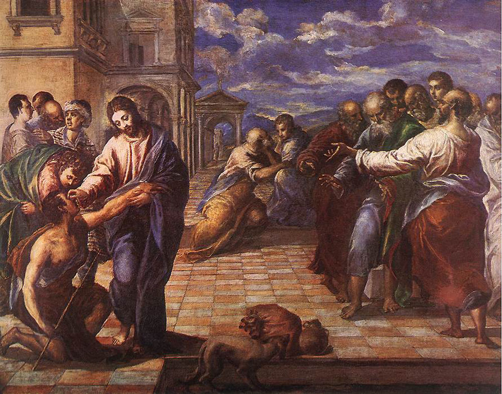 "El Greco, ""Christ Healing the Blind Man"""