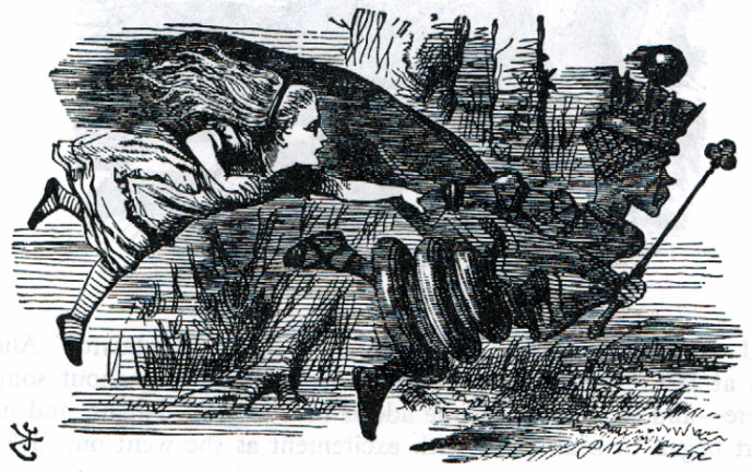 "Tenniel illus. from ""Through the Looking Glass"""