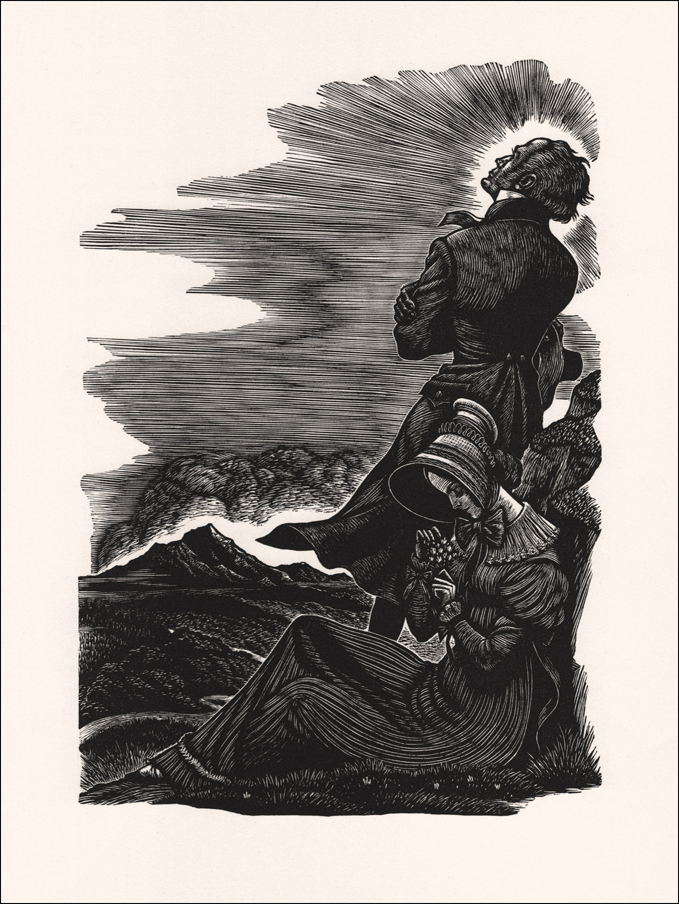"Fritz Eichenberg, ""Jane Eyre and St. John Rivers"""