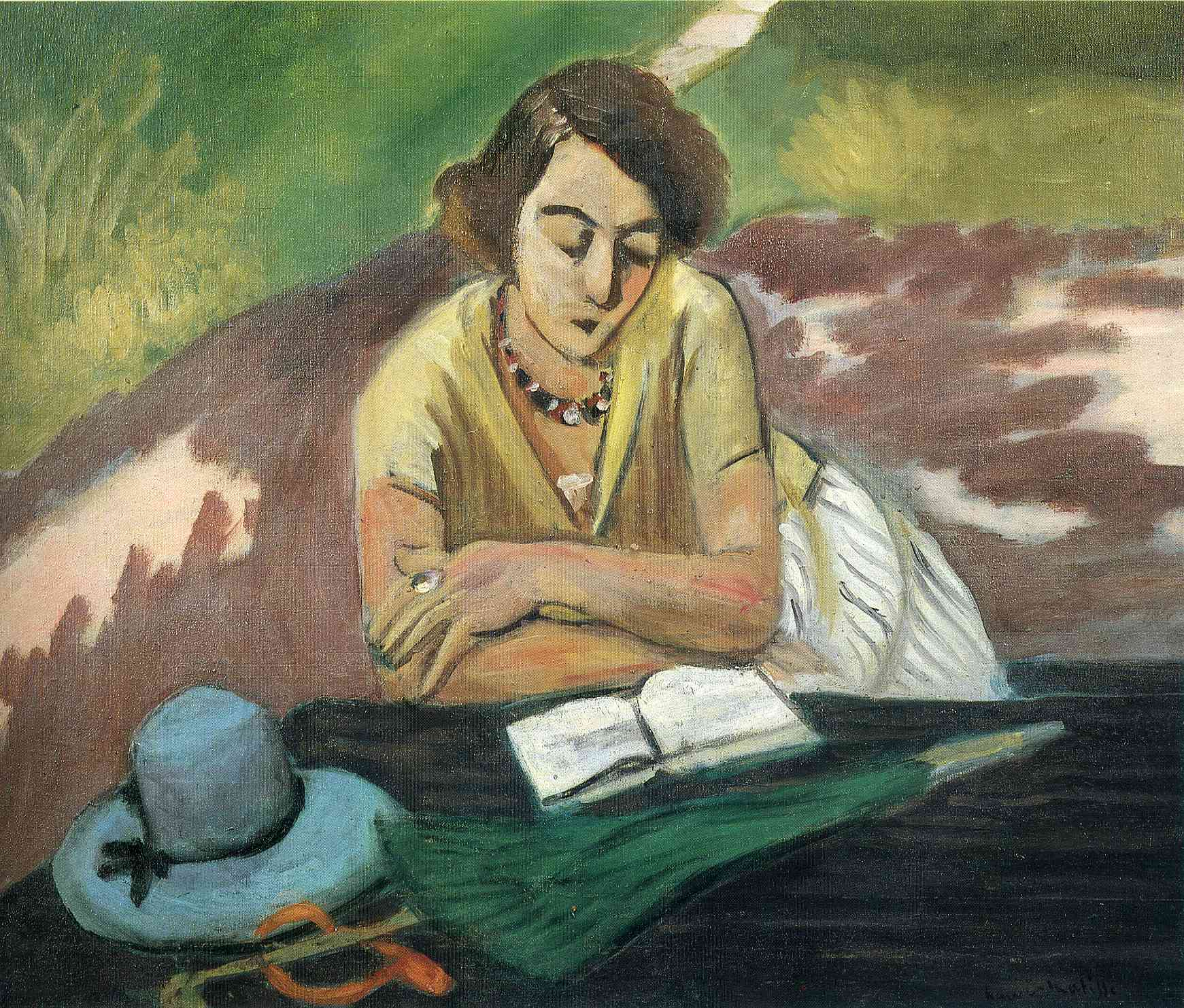 "Matisse, ""Reading Woman with Parasol"""
