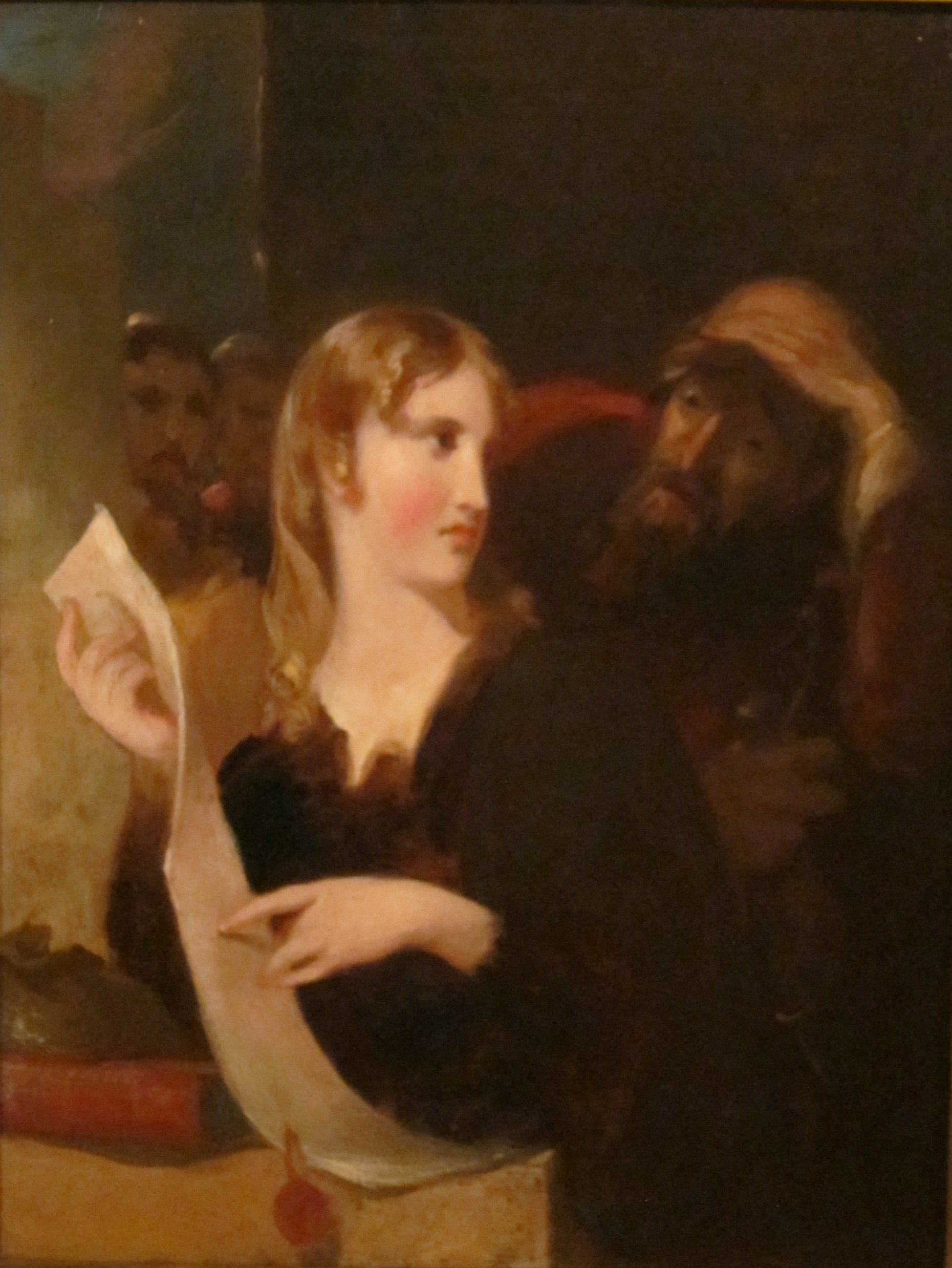 "Thomas Sully, ""Portia and the Merchant of Venice"""