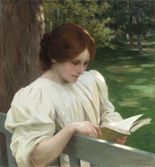 "Leopold Franz Kowalski, ""Reading"""