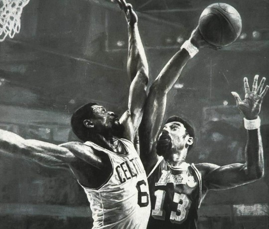 Russell vs. Chamberlin in 1969 NBA finals