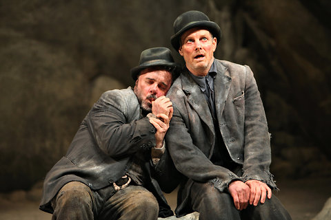 a literary analysis of estragon and vladimir in waiting for godot Literary and publications intern   characters, cast, and synopsis of waiting for godot  waiting     but decide to wait until the next evening for godot a.