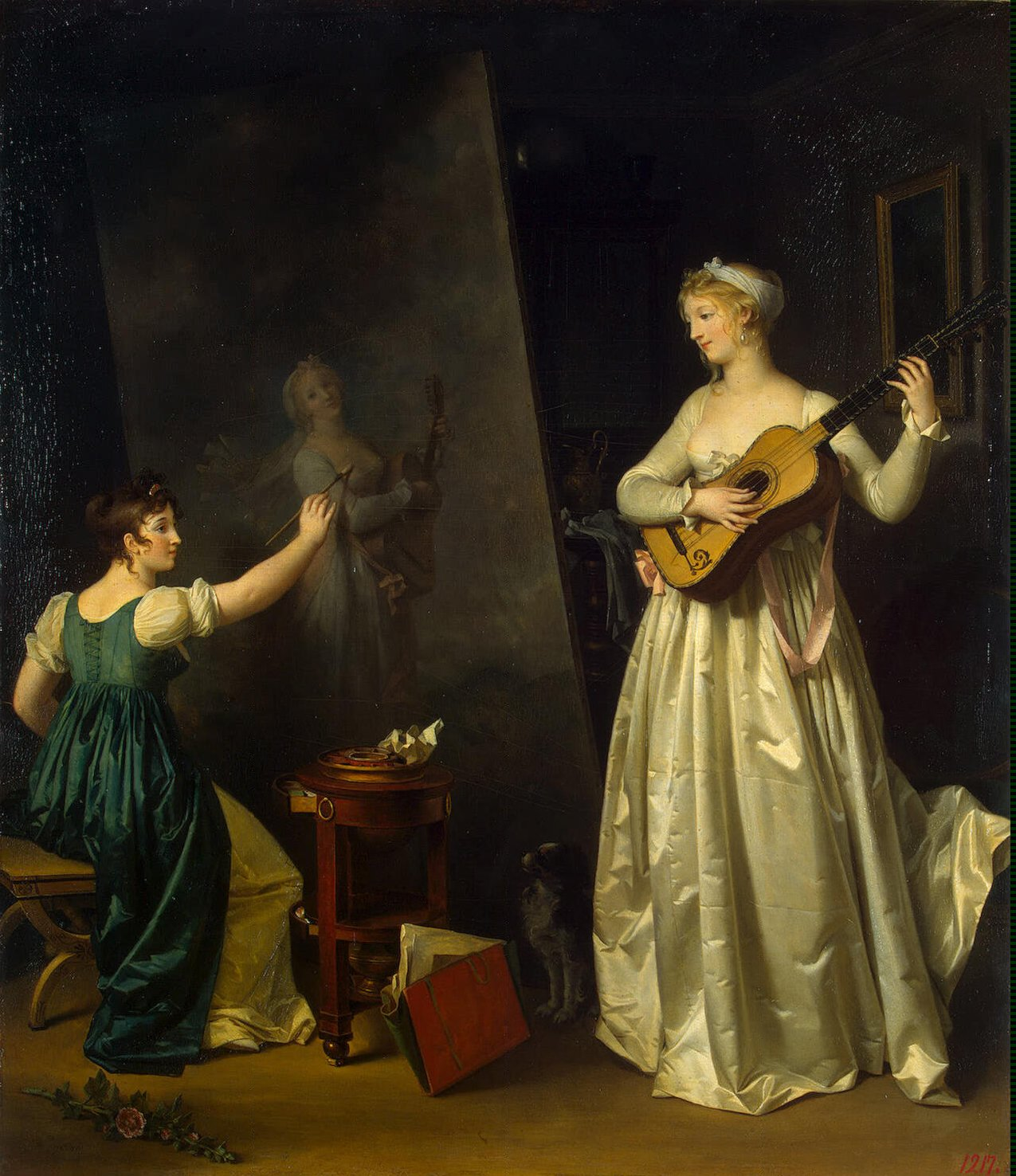 "Marguerite Gérard, ""Painter Painting a Lute Player"""