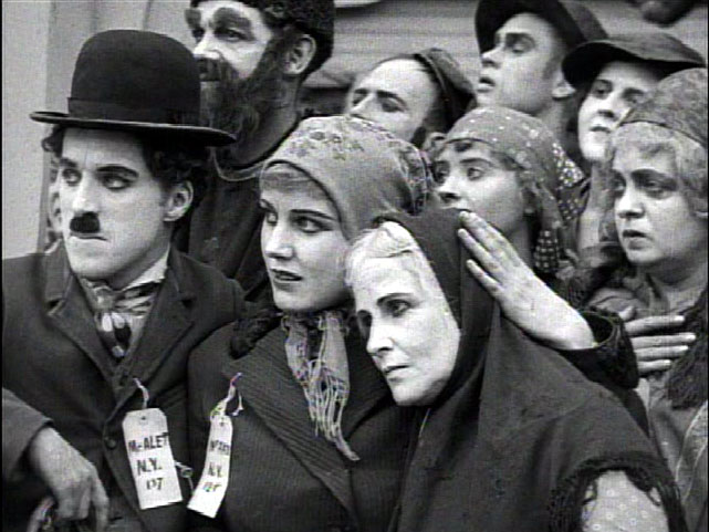 "Chaplin, Purviance in ""The Immigrant"""