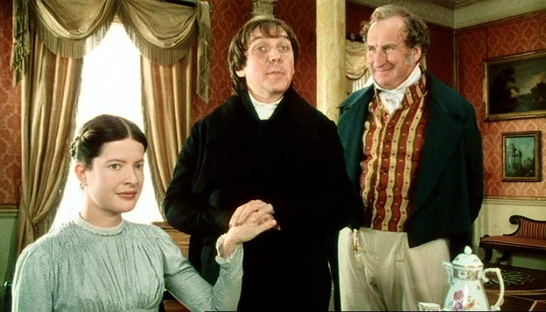 Scott, Bamber and Benjamin as Charlotte, Mr. Collins and Sir Lucas