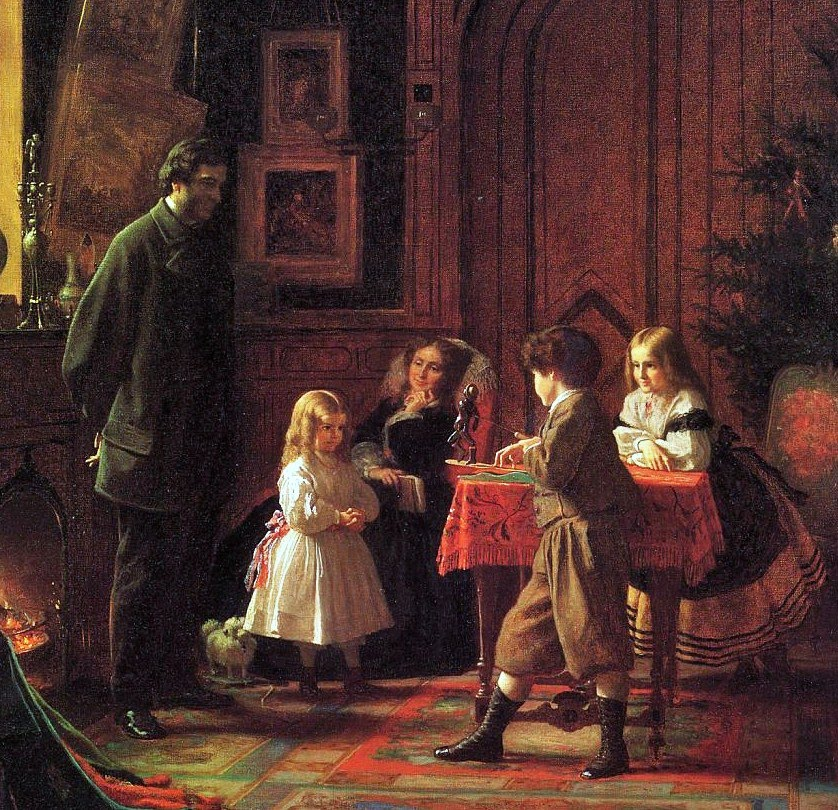 "Eastman Johnson, ""Christmas Time"""