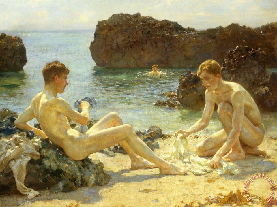 "Henry Scott Tuke, ""The Sun Bathers"""