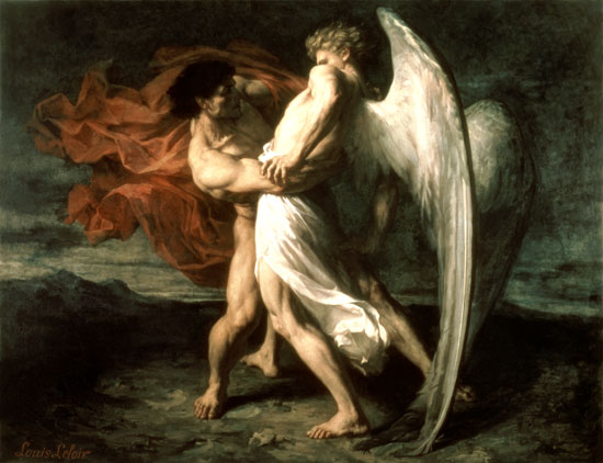 "Leloir, ""Jacob Wrestling with the Angel"""