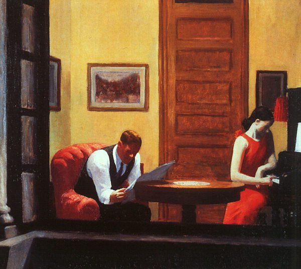 "Hopper, ""Room in New York"""