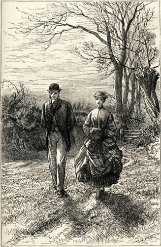 John Eames proposes to Lily Dale (illus. George Housman Thomas)