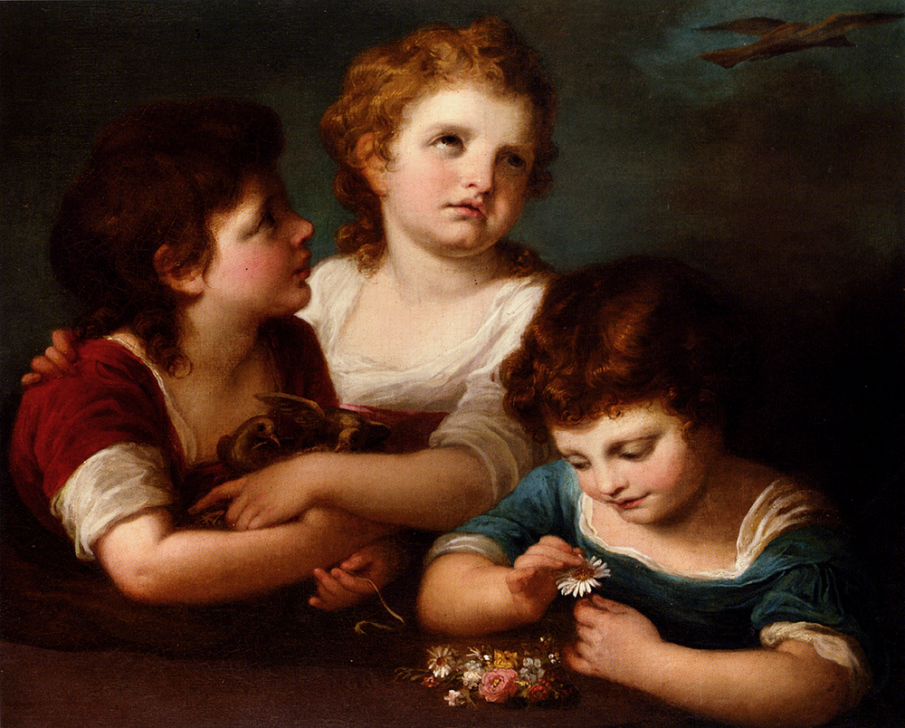 "Angelika Kauffmann, ""Children with Bird's Nest and Flowers (late 18th C)"