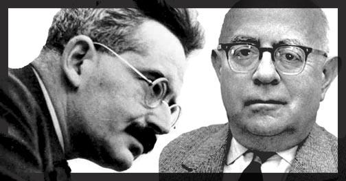 Walter Benjamin and Theodor Adorno