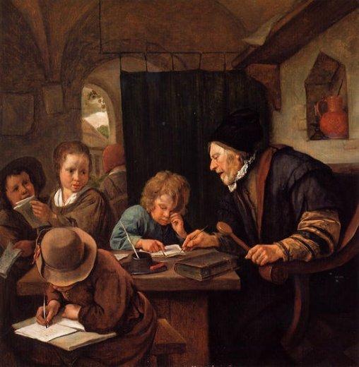 "Jan Steen, ""The Severe Teacher"""