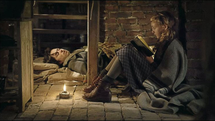 "Schnetzer and Nelisse in ""The Book Thief"""