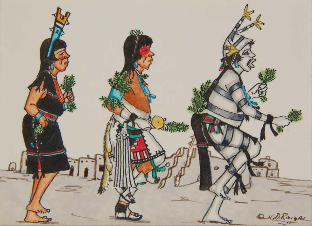 "J. D. Roybal, ""San Ildefonso Pueblo Corn Dance"" (1961)"