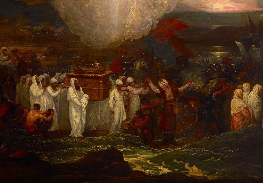 """Benjamin West, """"Joshua Passing the Jordan"""""""