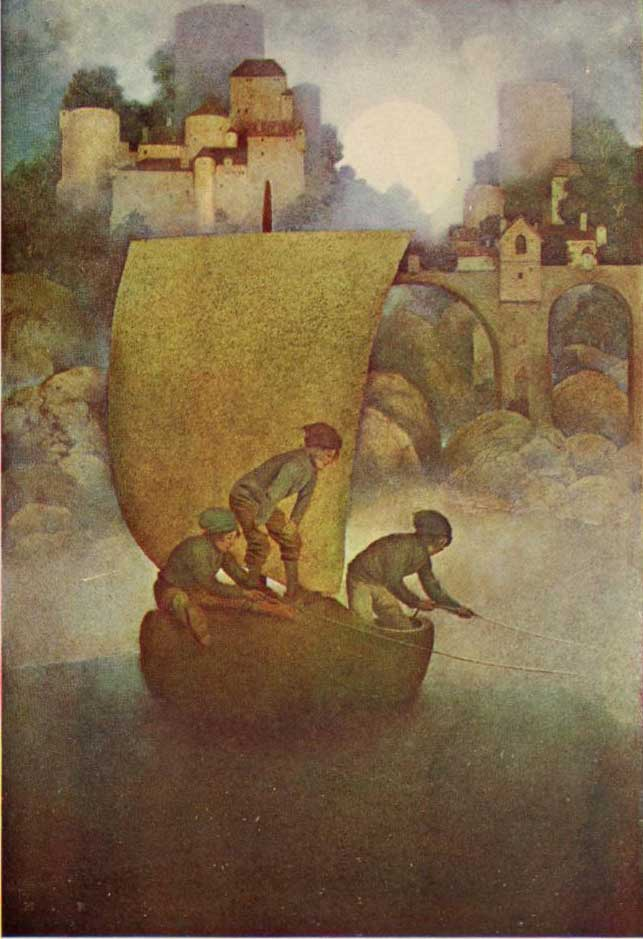 "Maxfield Parrish, ""Wynken, Blynken, and Nod"""