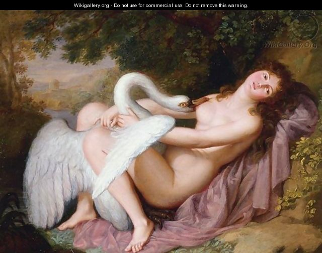 "Adolph Wertmuller, ""Leda and the Swan"""