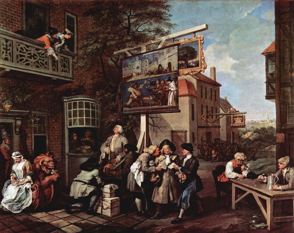 """William Hogarth, """"Canvassing for Votes"""""""