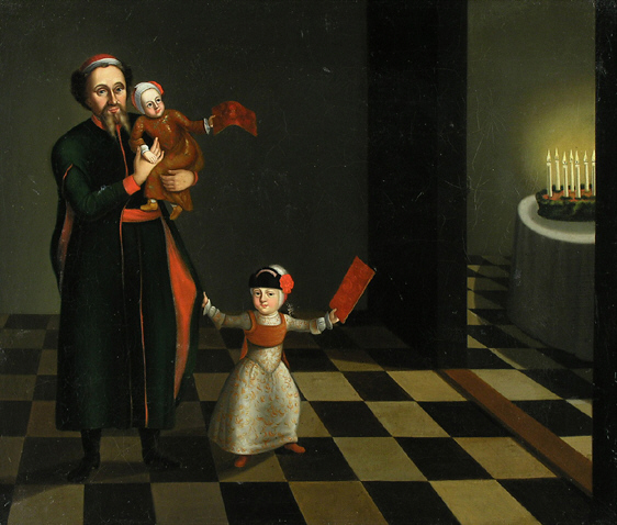 Artist unknown, Hanukkah celebration (c 1700s)